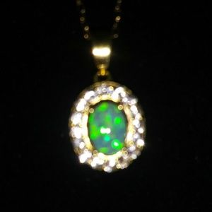 Jewelry - GOLD OPAL NECKLACE
